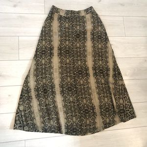 Jessica Simpson python maxi skirt